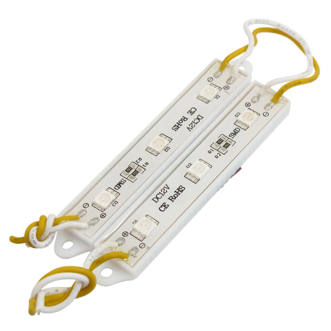 Channel Letter 5050 SMD 6 LEDs Orange Light Modules 0.75W DC12V