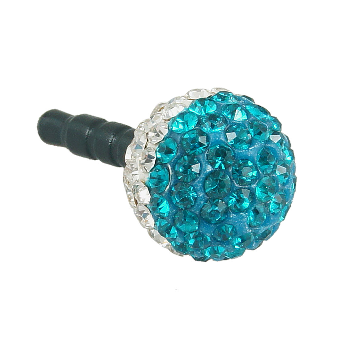 Bling Blue Ball 3.5mm Anti Dust Earphone Cap Stopper for Phone