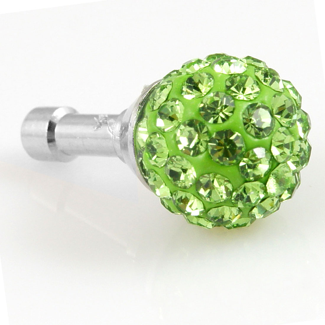 Bling Green Crystal 3.5mm Earphone Ear Cap Anti Dust Cover for Phone