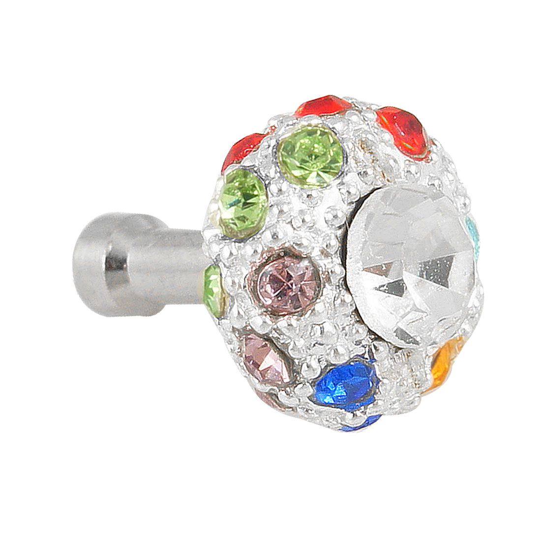 Bling Colorful Crystal 3.5mm Anti Dust Earphone Stopper for Phone