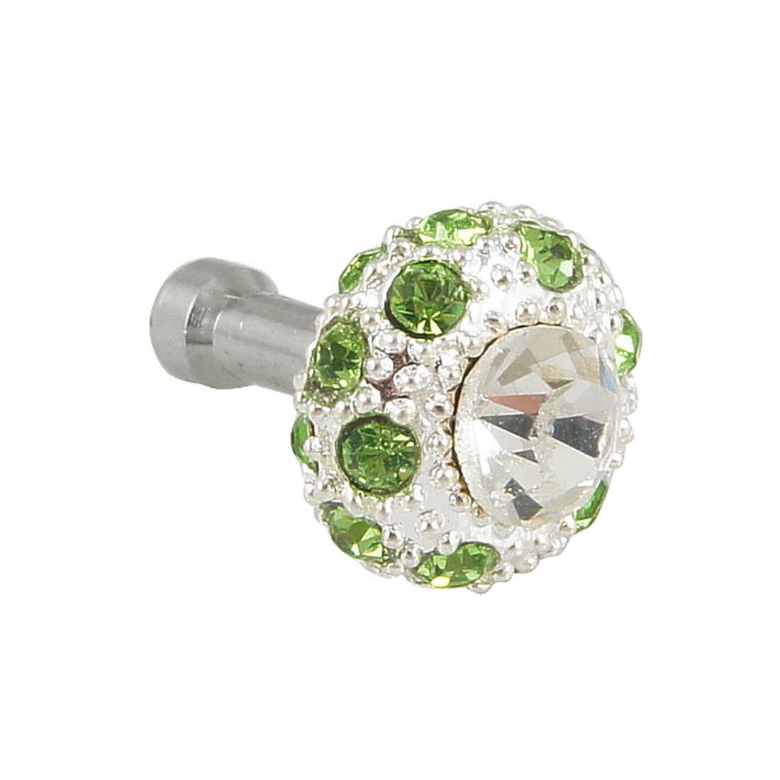 Bling Green Crystal 3.5mm Anti Dust Earphone Cap Stopper for Phone