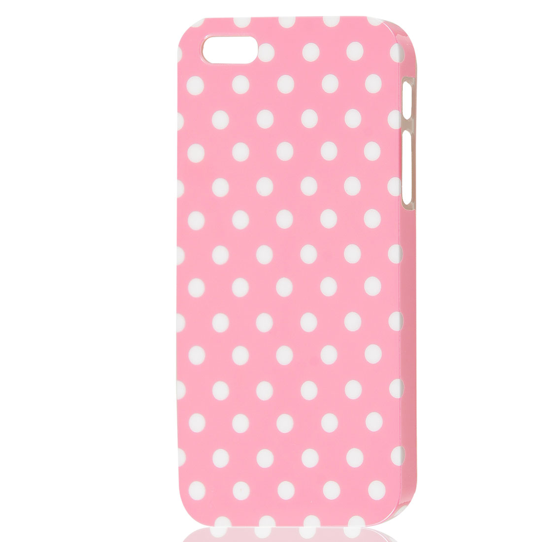White Polka Dots Pattern Pink Hard Skin Case Cover for iPhone 5 5G