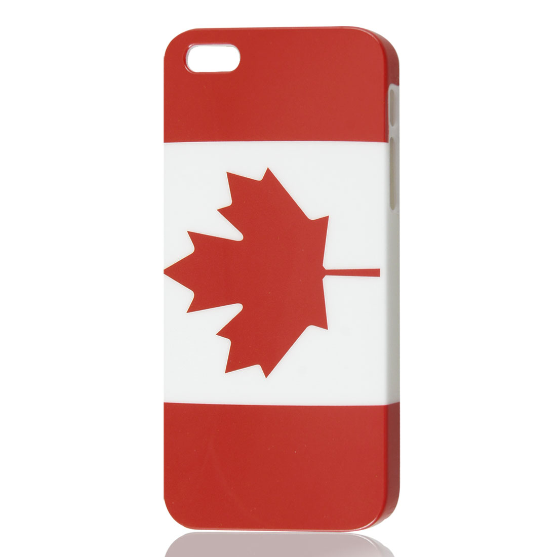 Canada Flag Pattern Hard Plastic Back Skin Case Cover for iPhone 5 5G