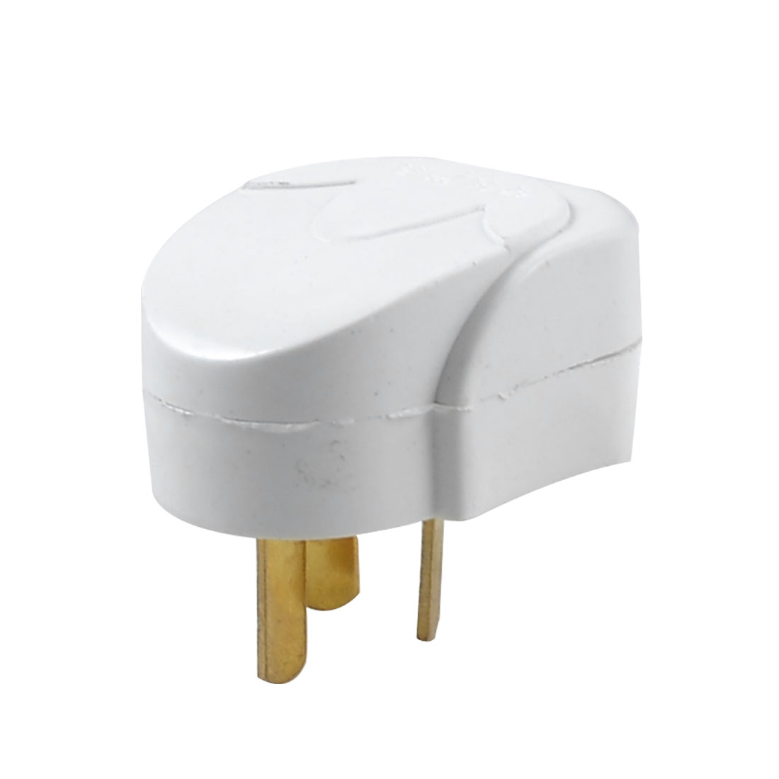White Plastic Housing 3 Pins AU Plug Power Adapter AC 250V 10A