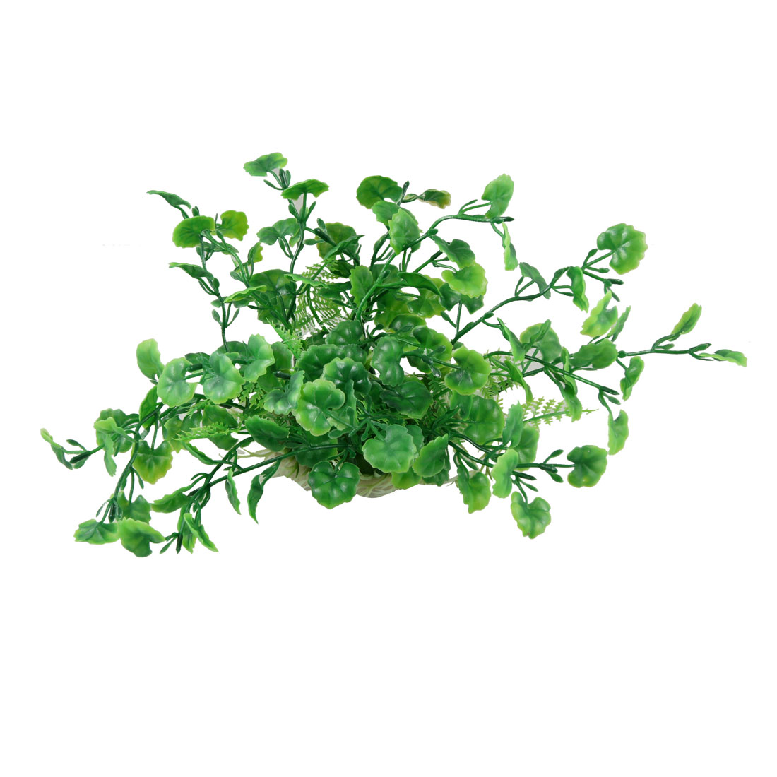 "10.6"" Wide Green White Emulational Plastic Water Grass Decor for Fish Tank"