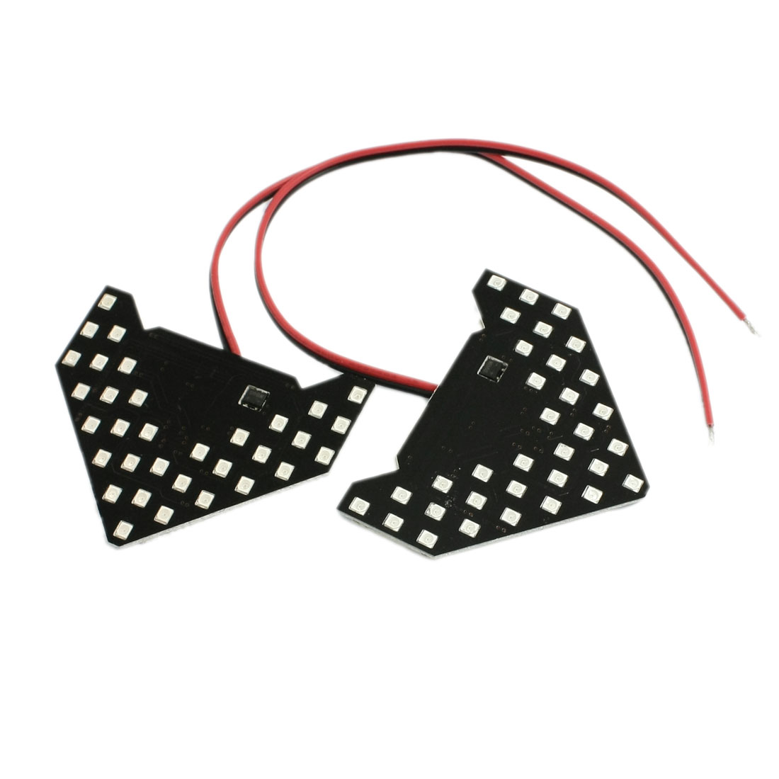 2 Pcs Red 33 SMD 1210 LED Arrow Panel Car Side Mirror Turn Signal Lamp Light