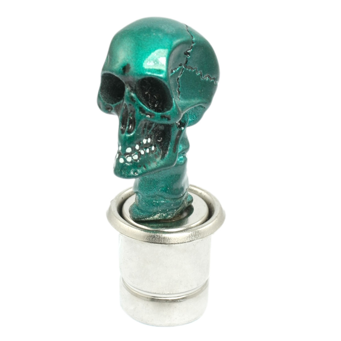 Green Ceramic Skull Head Style Auto Car Cigarette Lighter DC 12V