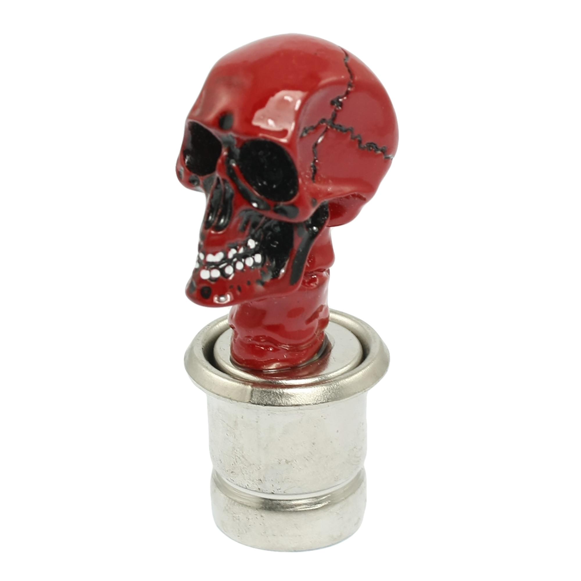 Red Ceramic Skull Head Accent Auto Car Cigarette Lighter DC 12V