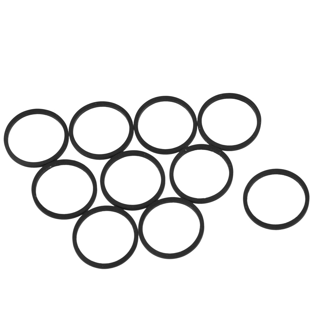 Miniature Motor 50mm Inner Girth Elastic Drive Belt Band Black 10 Pcs