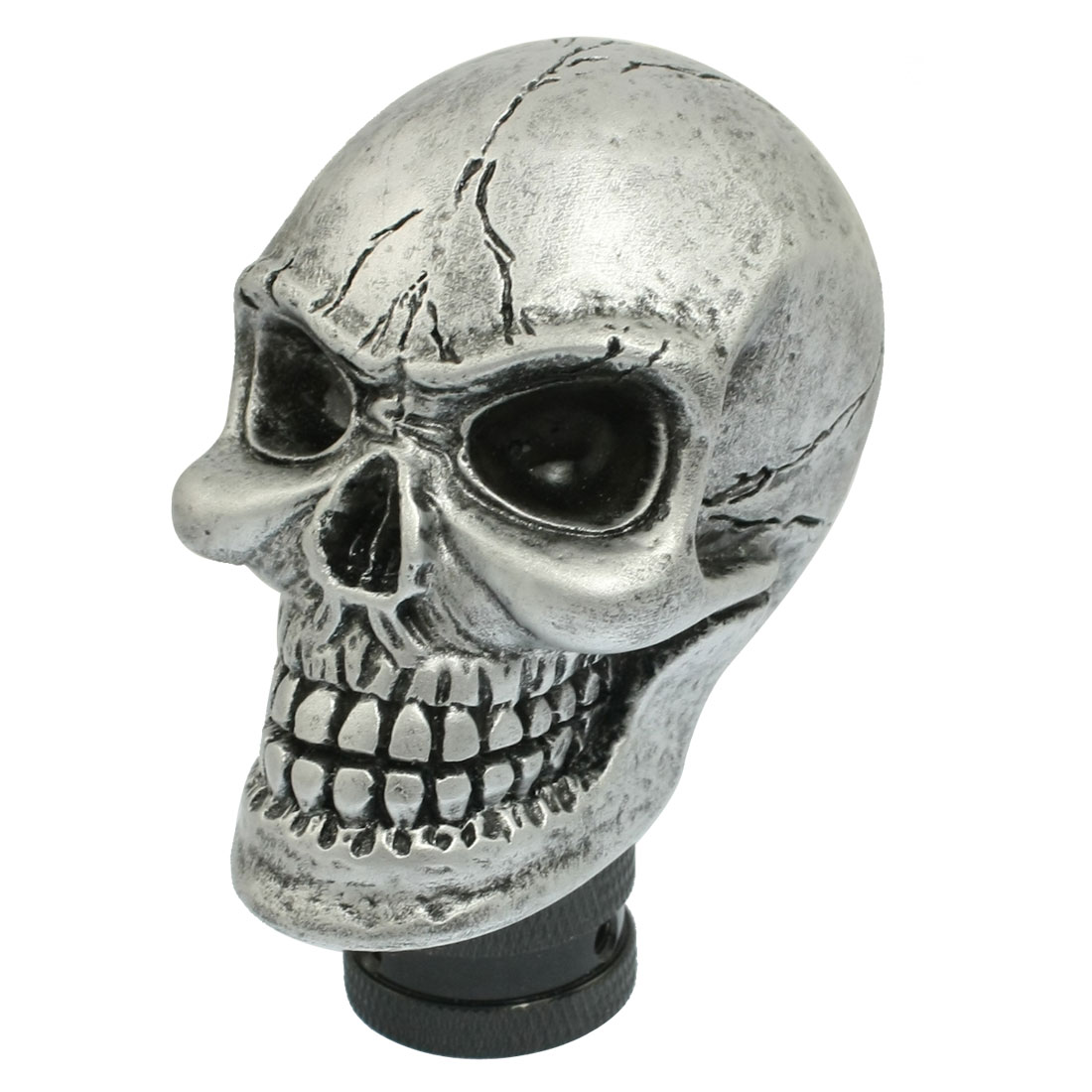 Skull Head Truck Car Gear Shift Knob w 3 Connectors