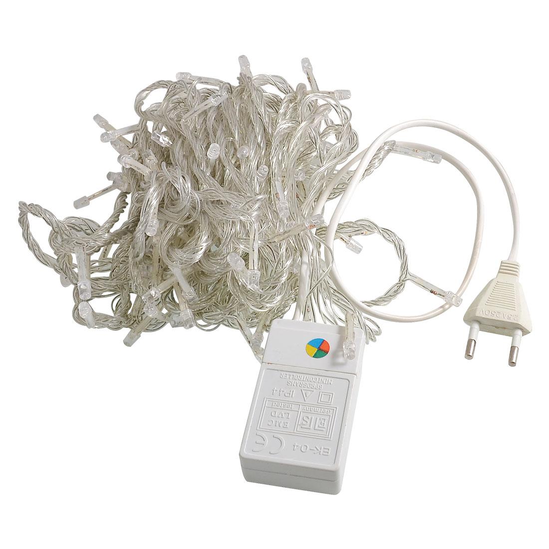 EU Plug Colorful Light 100 LEDs 8 Modes Night String Lights 9.6M AC 110V