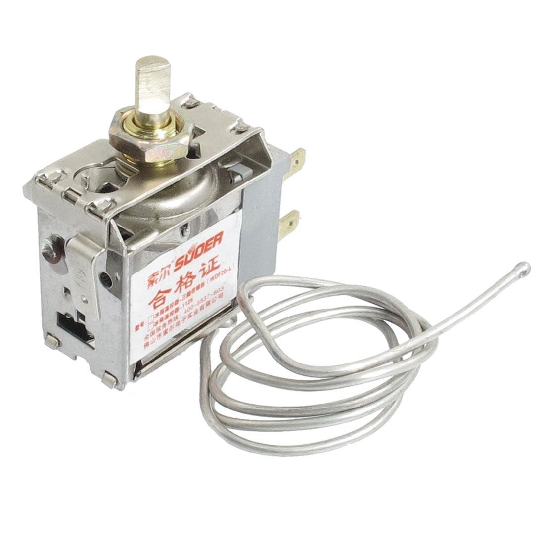 55cm Length Metal Cord Temperature Control Fridge Temperature Controller AC 250V 5A
