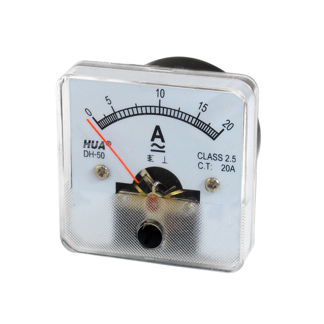 Analogue Square Shaped 0-20V AC/DC Panel Meter Ammeter
