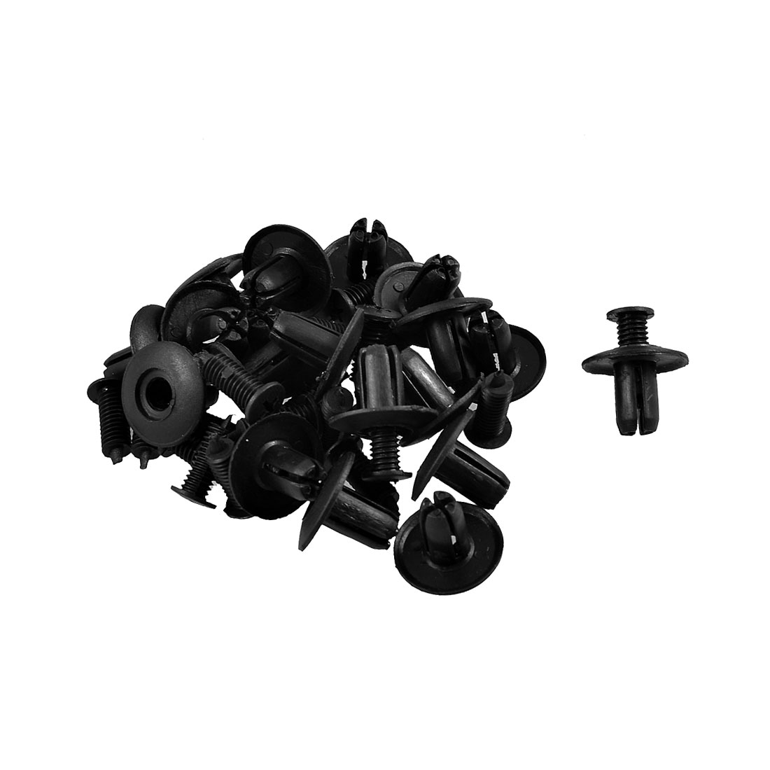 20 Pcs 8mm Hole Push in Expanding Screw Panel Clips Plastic Rivet Black