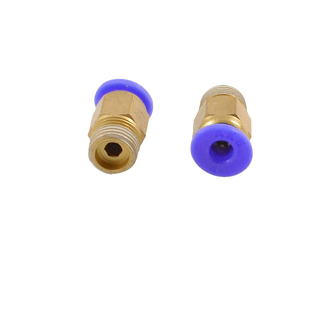 "5 x Pneumatic 1/8"" PT Thread Push In Connectors Fittings for 4mm Tube"