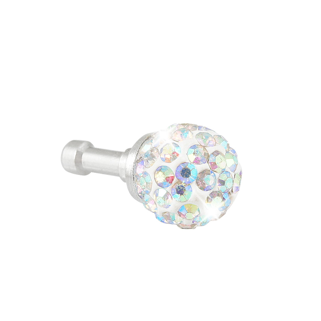 Colorful Bling Head 3.5mm Anti Dust Earphone Cap Plug Stoppers