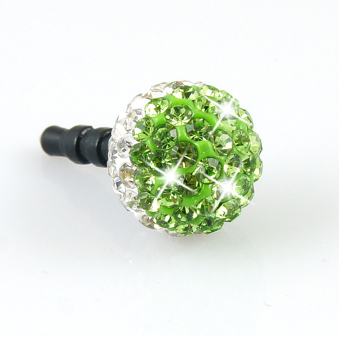 Bling Green Ball 3.5mm Anti Dust Earphone Cap Stopper for Cell Phone