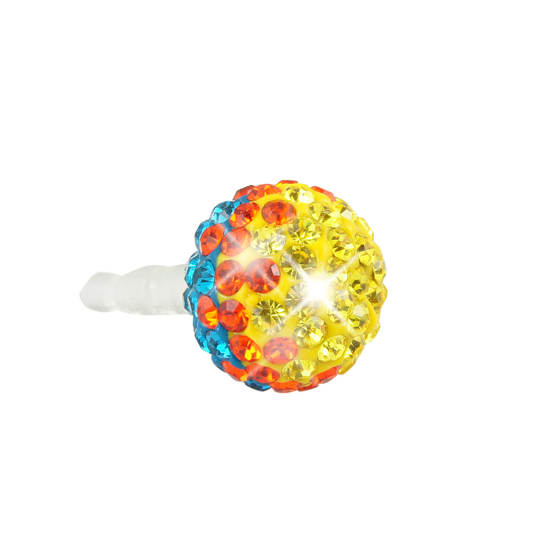 Bling Colorful Ball 3.5mm Anti Dust Earphone Cap Stopper for Cell Phone