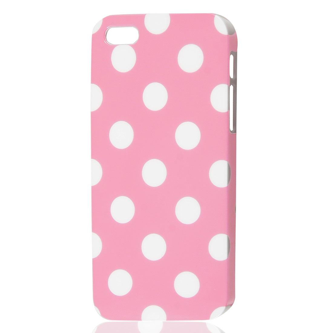 White Polka Dots Pattern Pink Protective Skin Case Cover for iPhone 5 5G