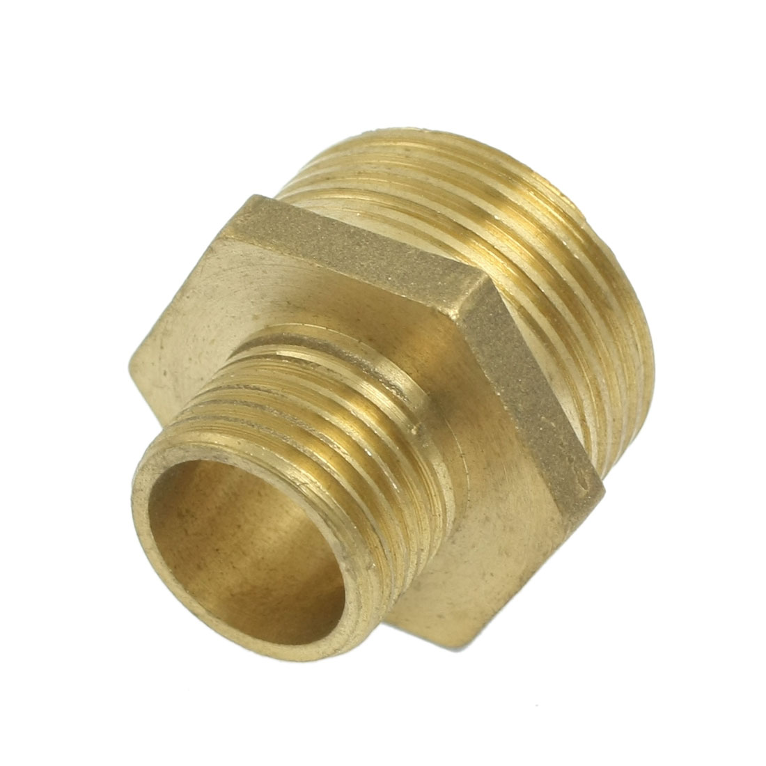"Pneumatic Air Pipe 1"" to 1/2"" M/M Thread Brass Hex Reducing Nipple"