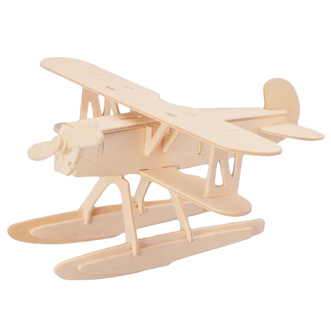 DIY 3D Wooden Heinkel HE 51 Model Float Plane Woodcraft Construction Kit