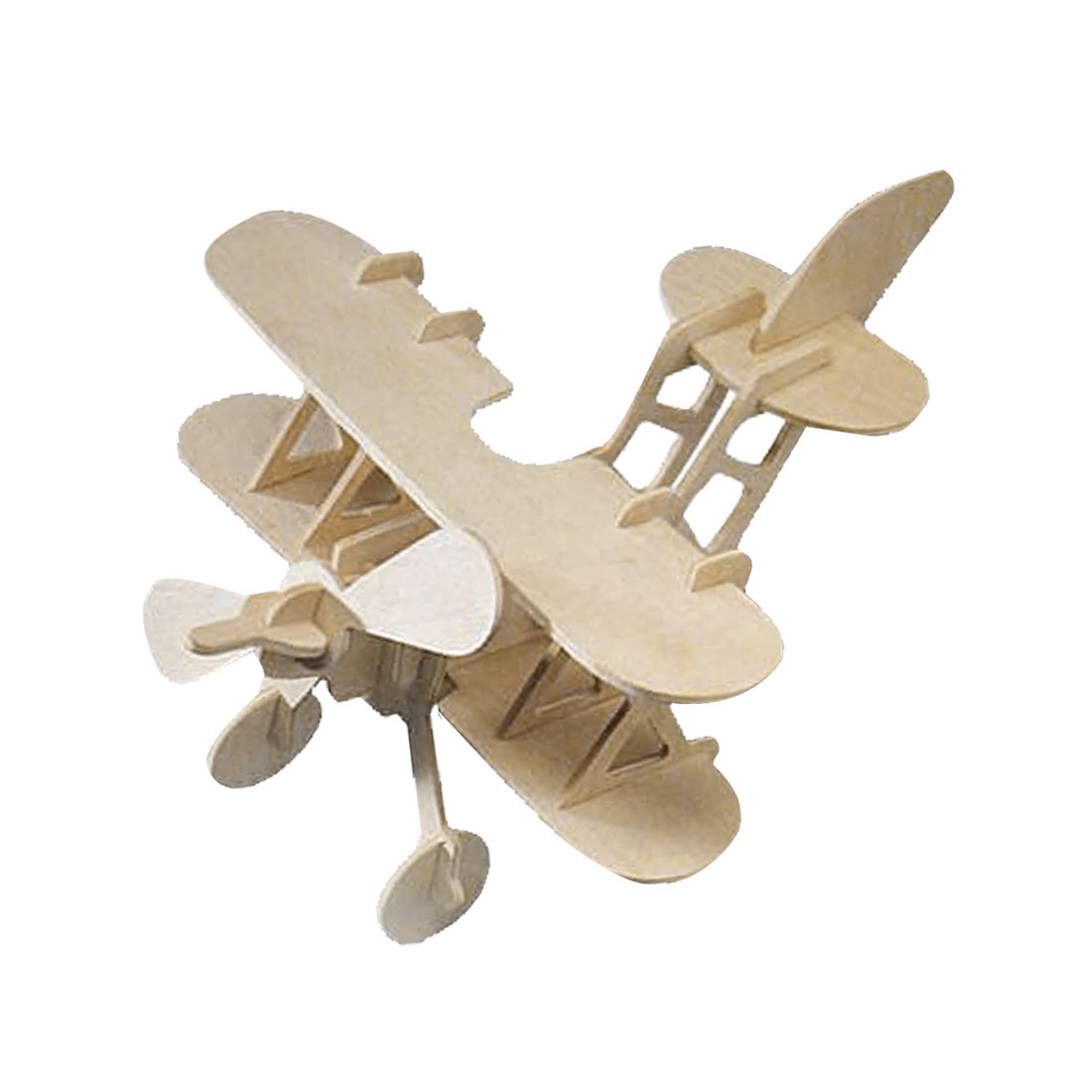 DIY Biplane Model Wooden 3D Assemble Puzzled Toy Woodcraft Construction Kit