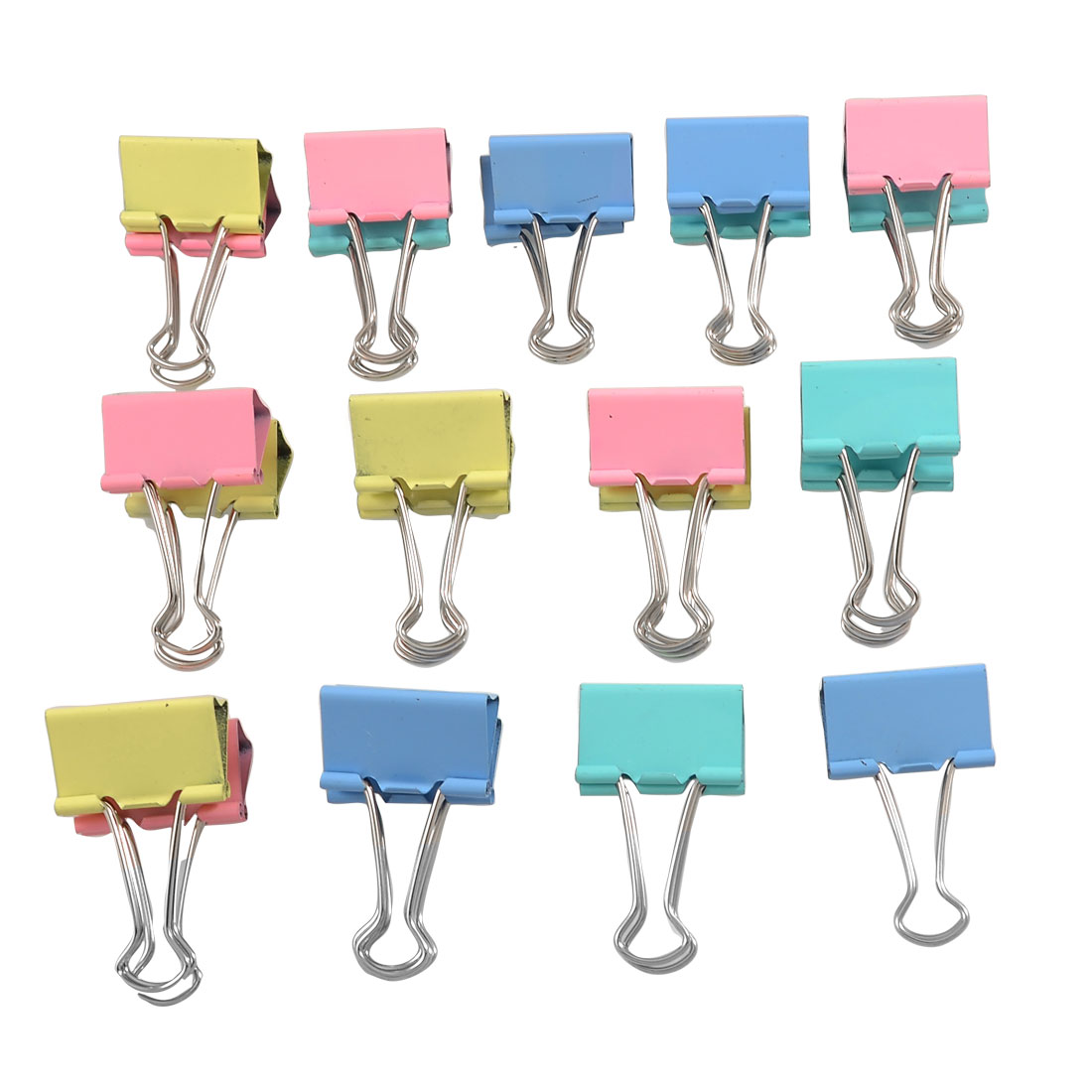 24 Pcs Assorted Color Office File Document Metal Binder Clips 31mm Width
