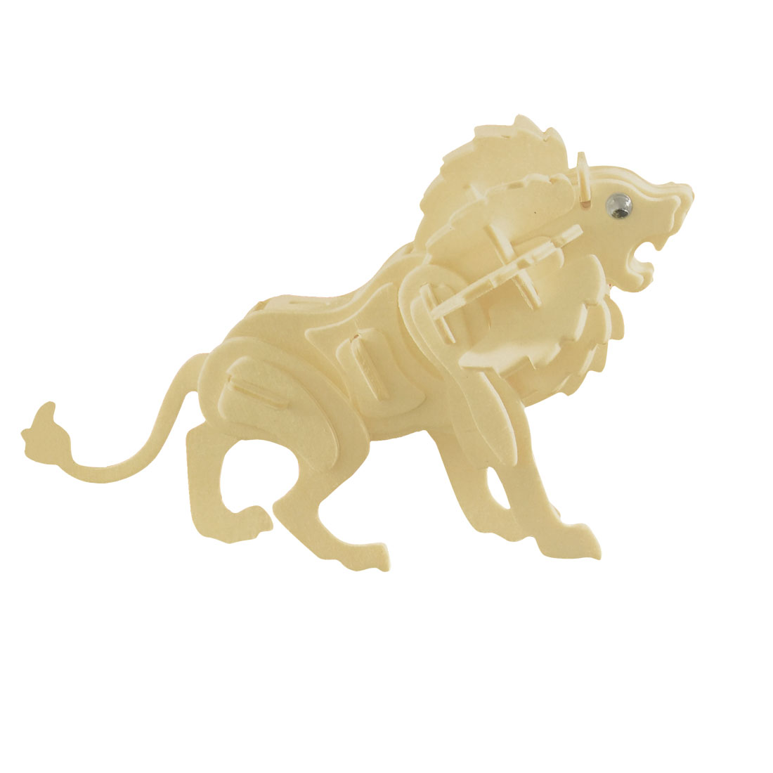 DIY Assembly Lion Wooden Educational Puzzled Toy Woodcraft Construction Kit