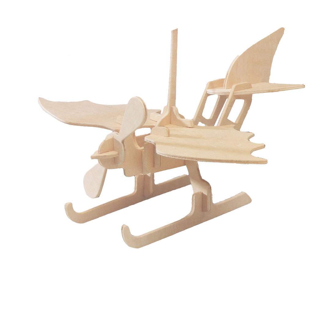3D Seaplane Model Wood DIY Assembly Puzzled Toy Woodcraft Construction Kit