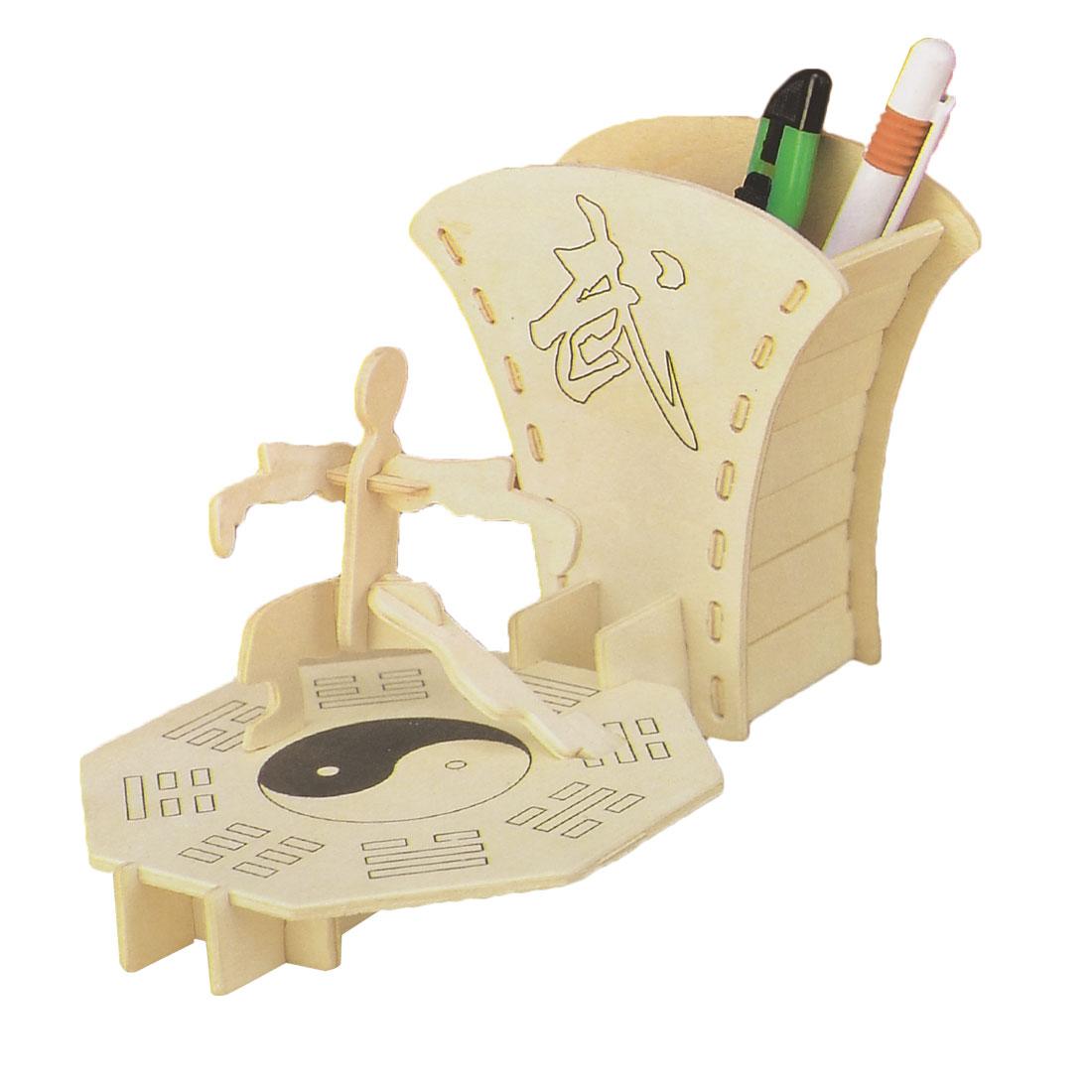 Kids 3D Wooden Martial Art Pen Holder Woodcraft Construction Kit