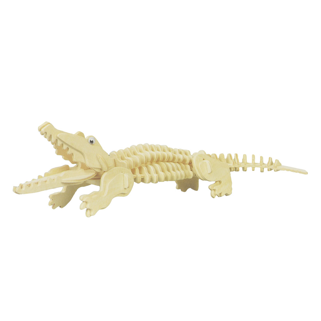 DIY Assembly Crocodile Wooden Educational Puzzled Toy Woodcraft Construction Kit
