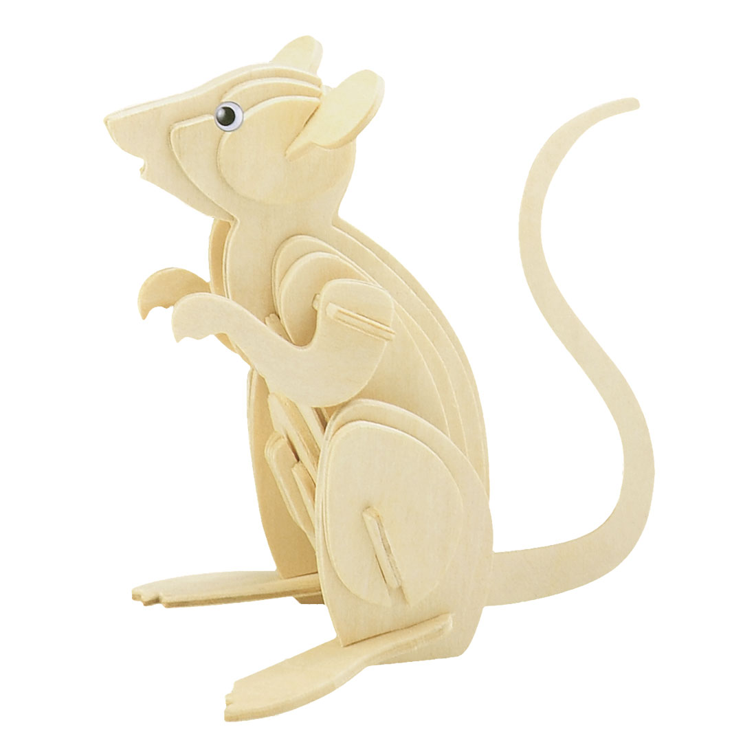 Child Wooden Mouse Model 3D Woodcraft Construction Kit Intelligence Puzzle Toy