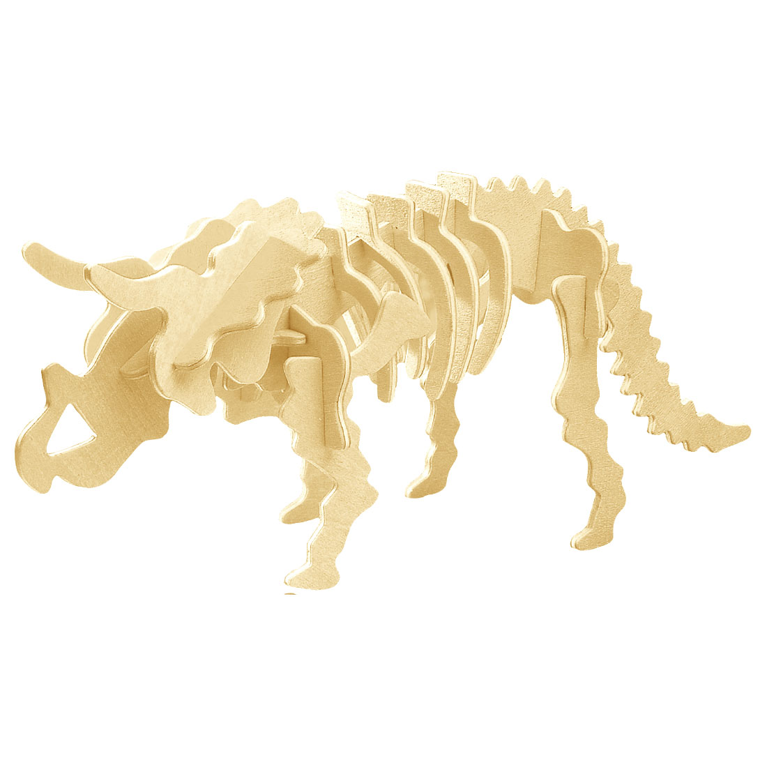 3D Wood Triceratops Design Woodcraft Construction Kit Assembling Puzzle Toy