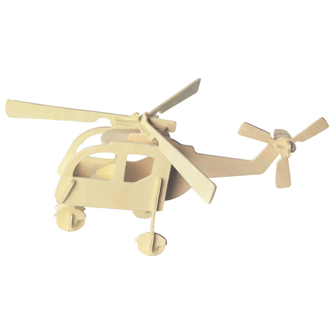 DIY Wooden 3D Helicopter Model Woodcraft Construction Kit Educational Puzzle Toy