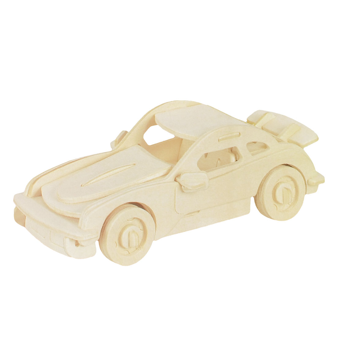 Children 3D Wooden Car Model Woodcraft Construction Kit Intelligence Puzzle Toy