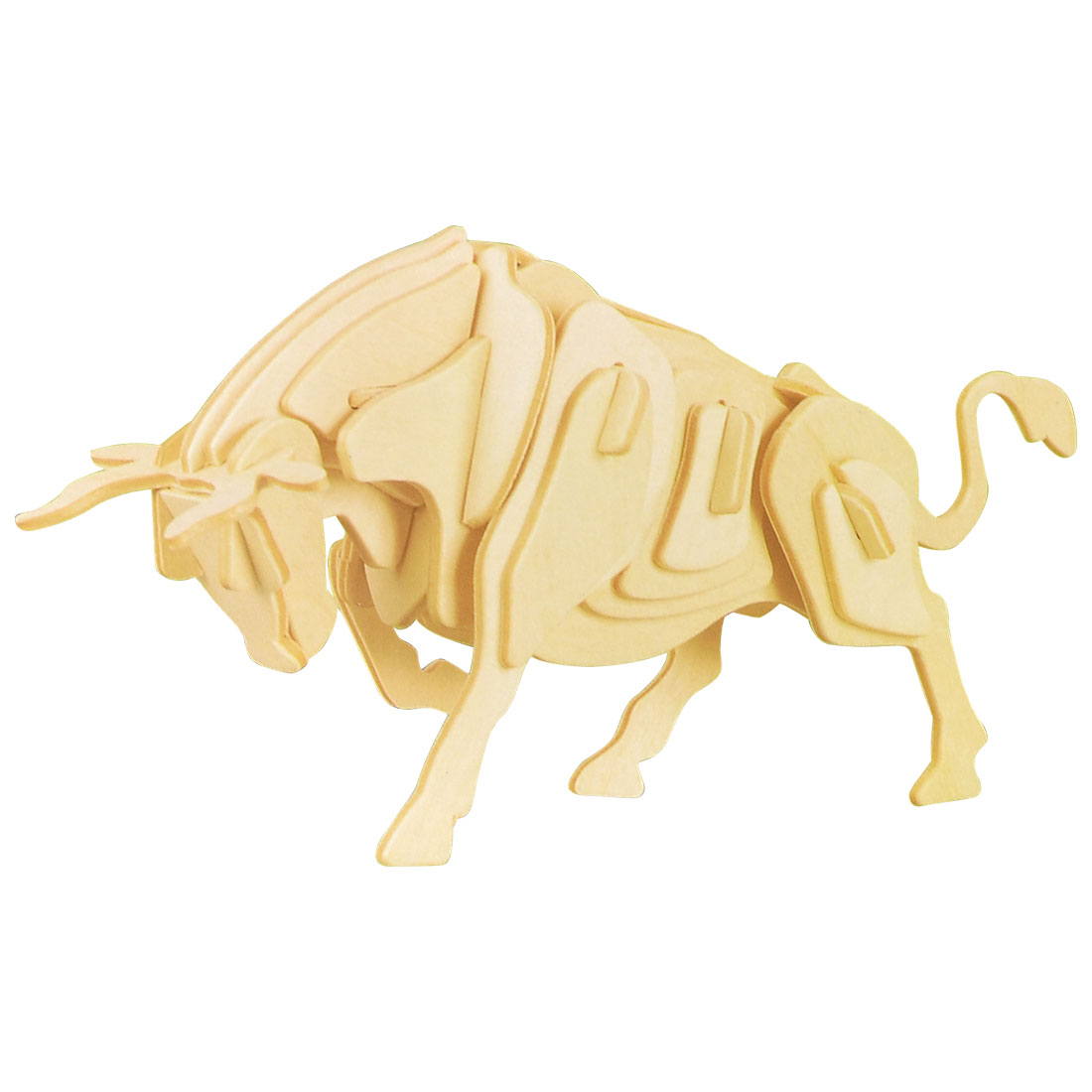 Bull Design Wooden Model Educational Puzzle Toy Woodcraft Construction Kit