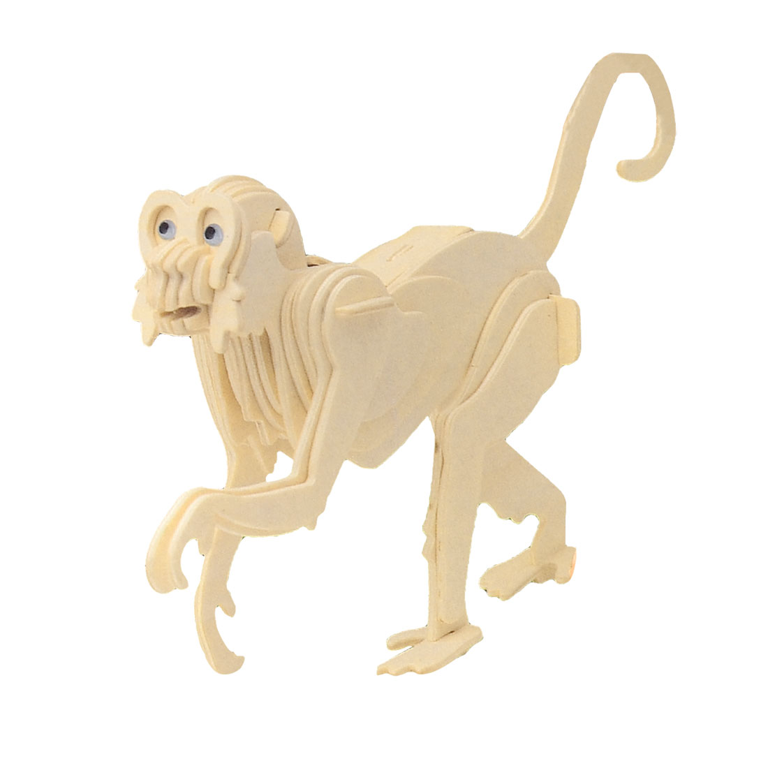 Monkey Design Wooden Model Intelligence Puzzle Toy Woodcraft Construction Kit for Kid