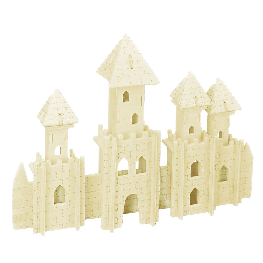Child Wooden Castle Model 3D Woodcraft Construction Kit Intelligence Puzzle Toy