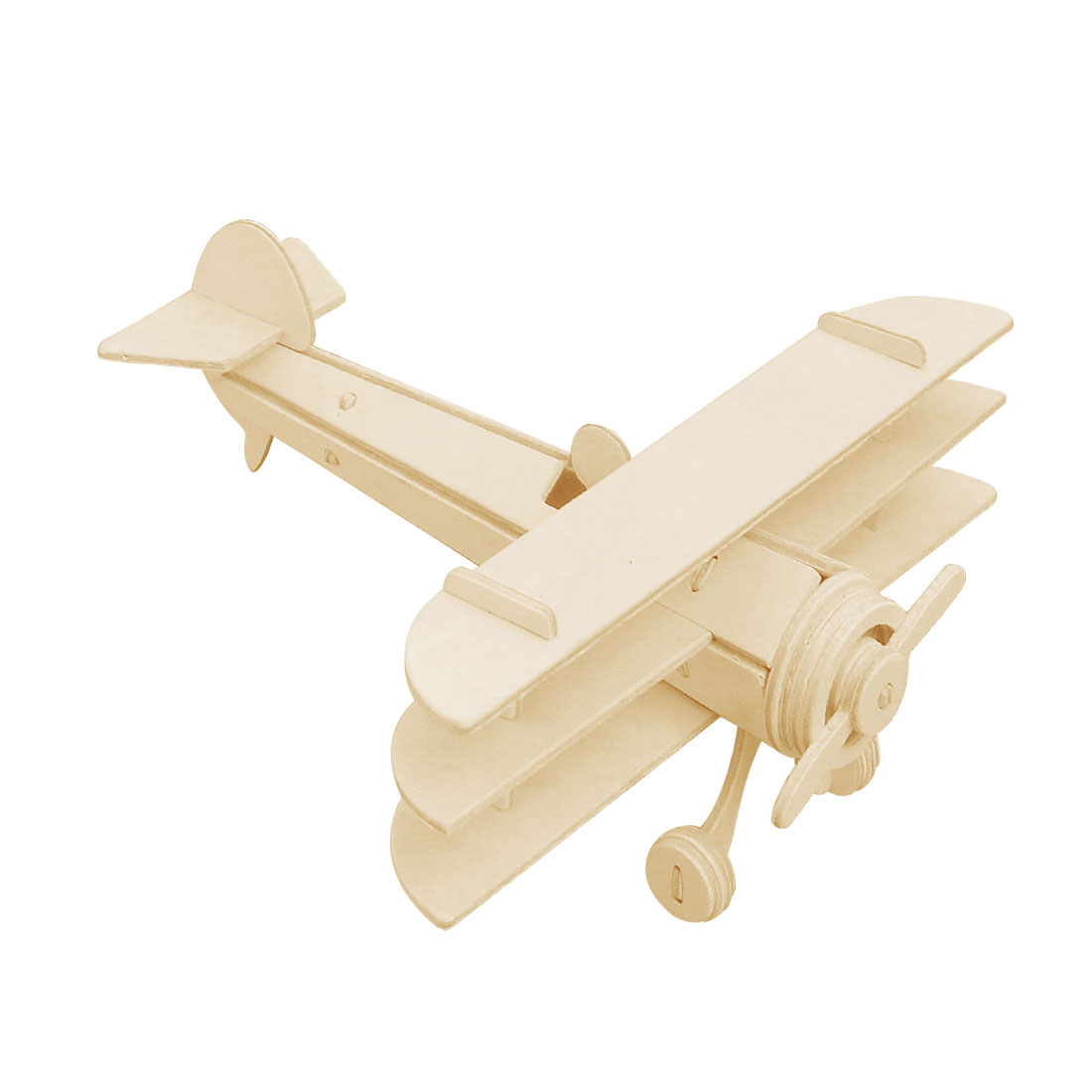 Child DIY Wooden Spowith Triplane Model Woodcraft Construction Kit Puzzle Toy