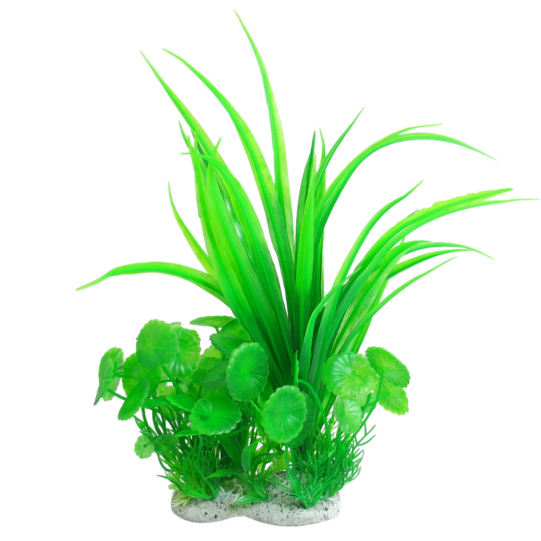 "Aquarium Green Manmade Water Grass Plants Decoration 10.2"" Height"