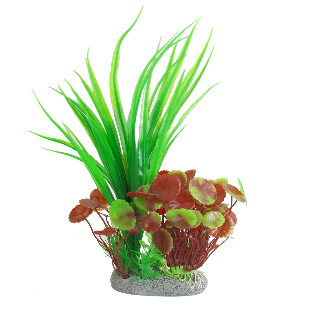 "Aquarium Green Amaranth Manmade Water Grass Plants Decoration 10.8"" Height"