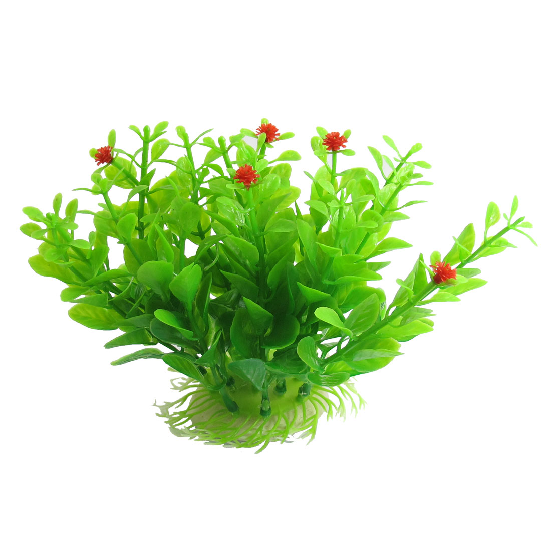 "Aquarium Green Red Manmade Water Grass Plants Decoration 5.1"" Height"