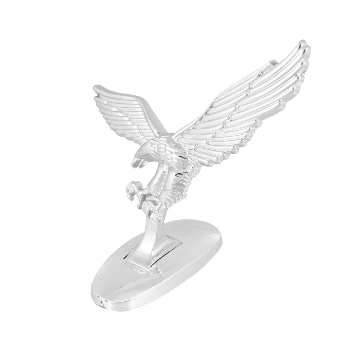 Silver Tone 3D Flying Eagle Self Adhesive Sticker Decal for Auto Car