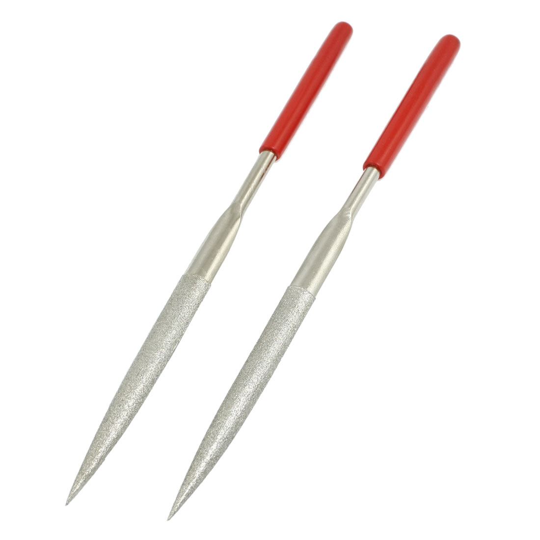 180mm Long Craft Making Hand Tool Half Round Needle Files 2 Pcs