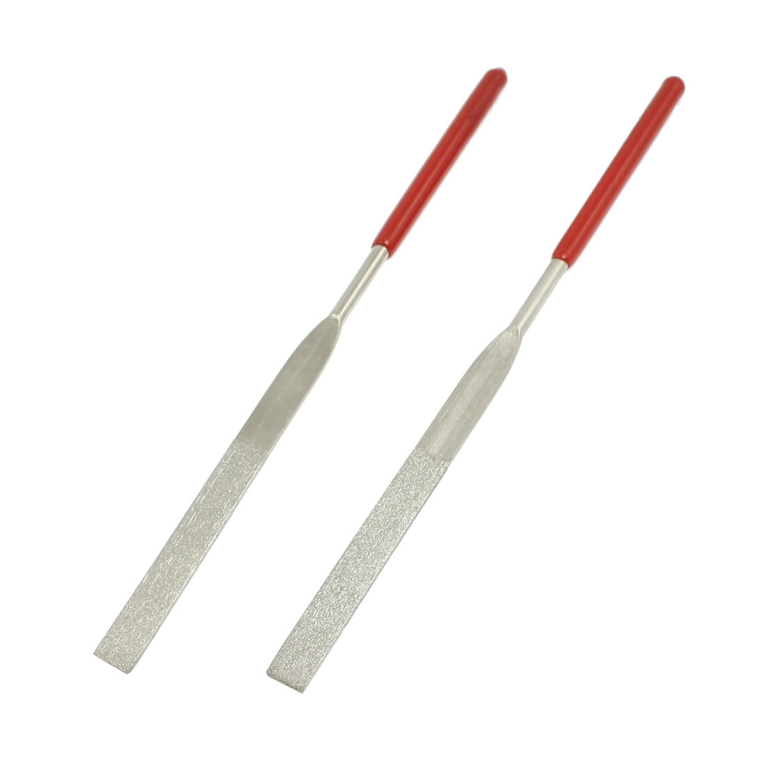 2 Pcs 160mm Long Jewlery Flat Diamond Needle Files Grinding Tool