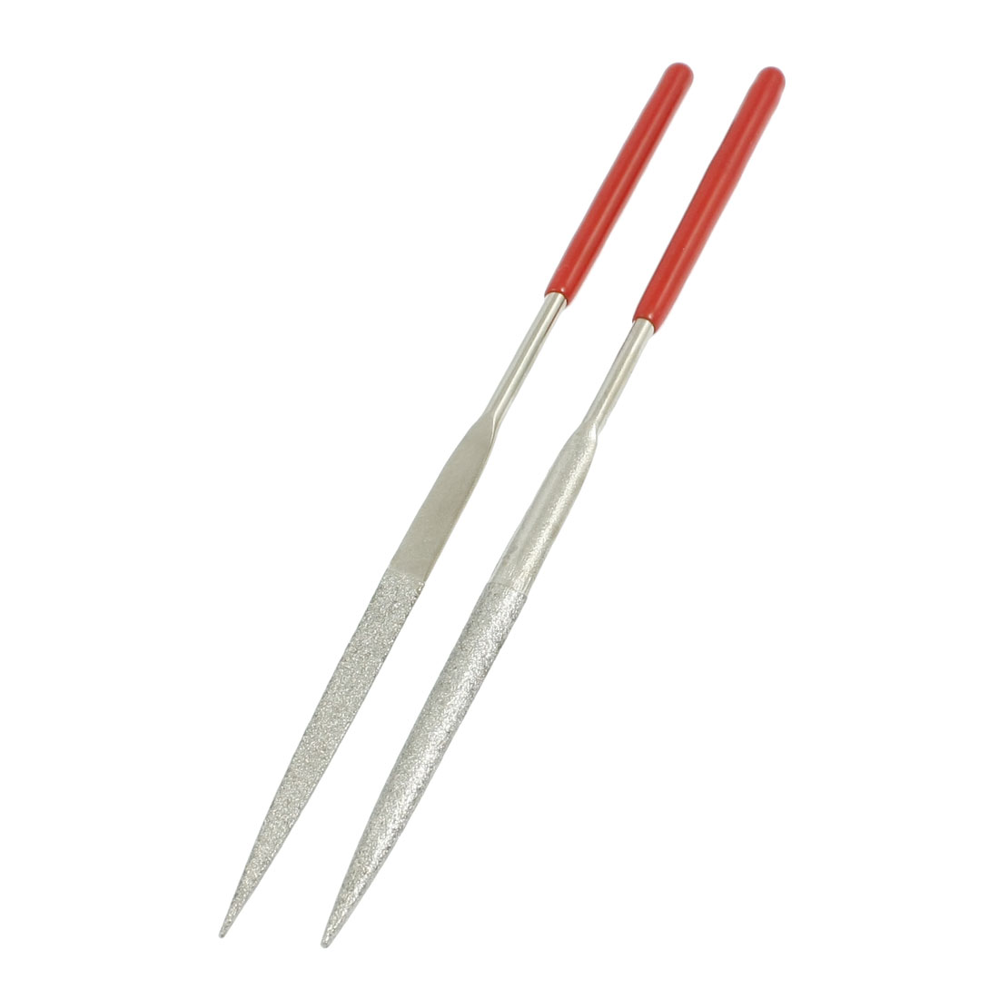 3mm x 140mm Craft Making Hand Tool Half Round Needle Files 2 Pcs