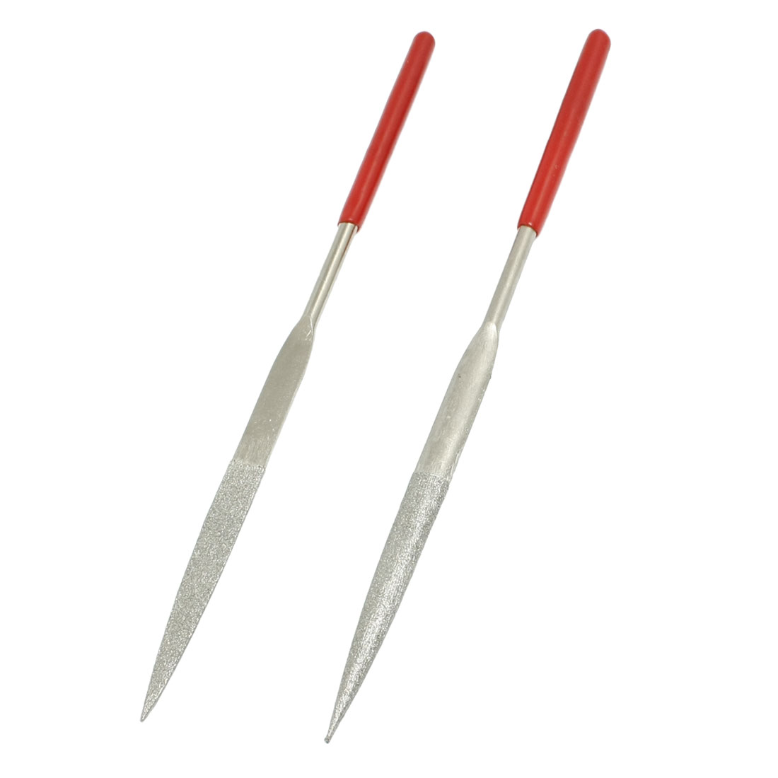 163mm Long Craft Making Hand Tool Half Round Needle Files 2 Pcs