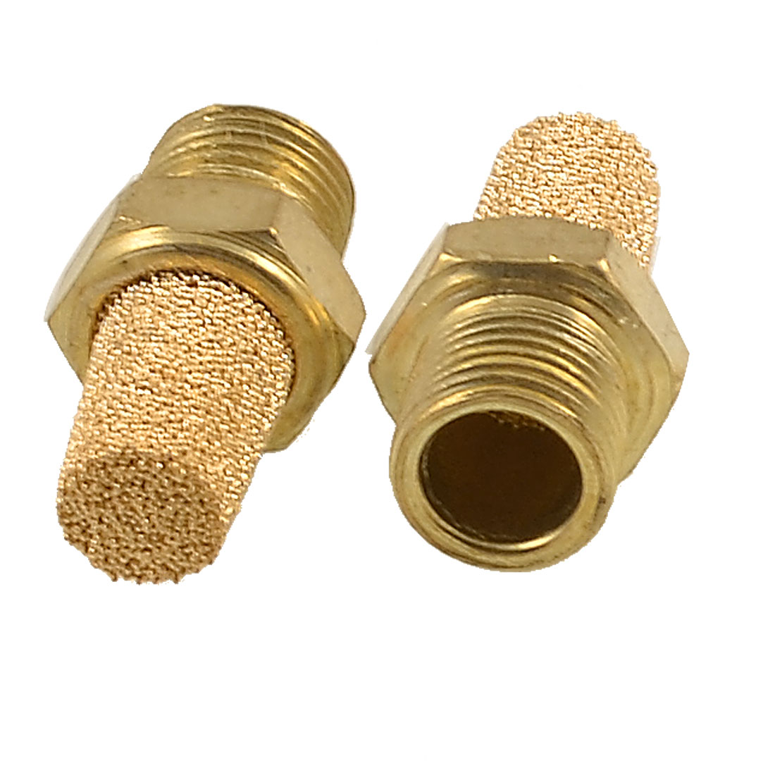 "2pcs 1/8"" PT Male Thread Brass Pneumatic Valve Muffler Silencers"
