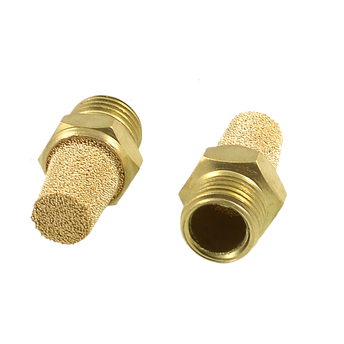 "2 x 1/4"" PT Thread Sintered Pneumatic Air Exhaust Silencer Muffler"