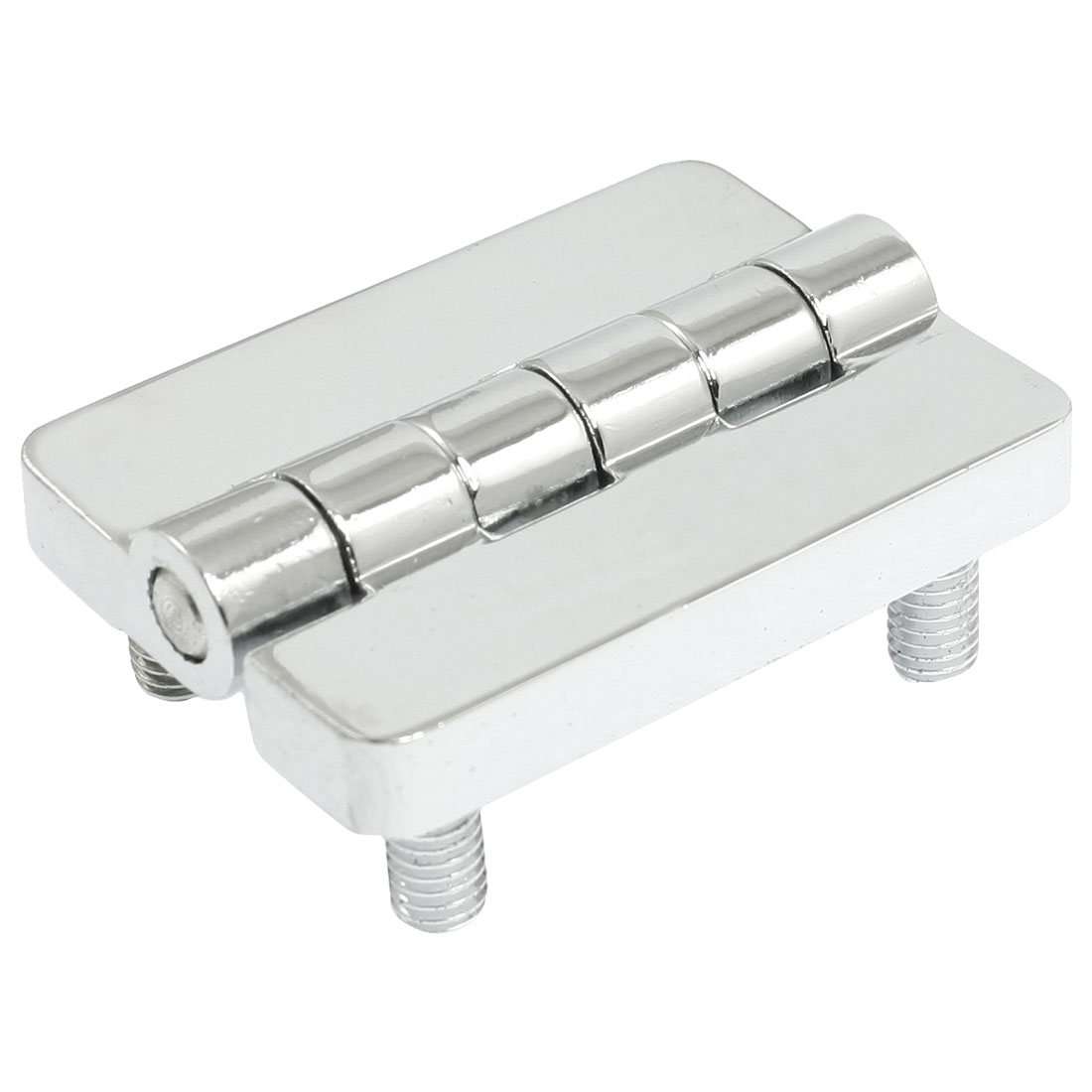 Home Door Chrome Plated 40mm x 53mm Radius Butt Hinge Silver Tone